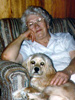 Helen with Taffy in their fourth Athens Home at 105 Mill Street. This photo was taken after Garland Sr. passed away.