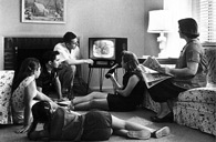 Family with TV in 1958