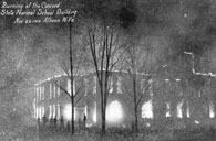Burning of the Concord State Normal School Building