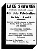 Raleigh Register (Beckley, WV) advertisement, July 4, 1943, Page 2.